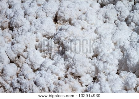 Lumps of salt in saltworks of Antofalla in the Andes in the province of Catamarca, Argentina