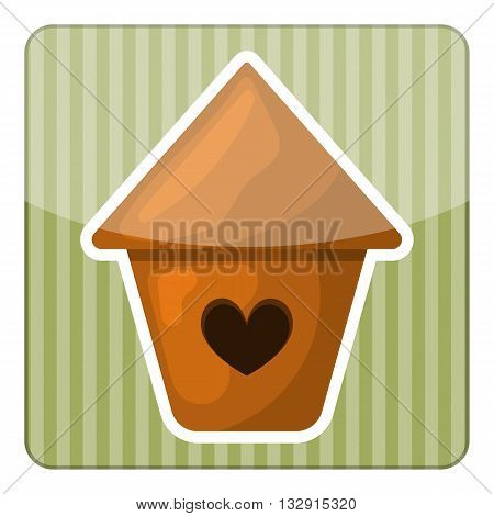Nesting box colorful icon. Vector illustration in cartoon style