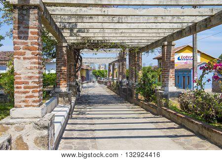 GRANADA NICARAGUA - MARCH 20 : Street view of Granada Nicaragua on March 20 2016. Granada was founded in 1524 and it's the first European city in mainland America