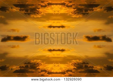 Sky with cloud storm and color of the sunset in twilight Sky colorful from nature Abstract sky sunset with pattern of storm cloud can be use for background