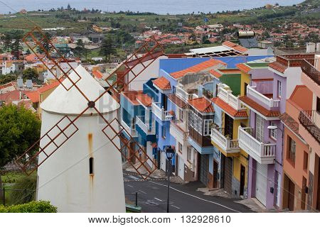 TENERIFE, CANARY ISLANDS, SPAIN - april 10, 2016: La Orotava city and nearest rural town