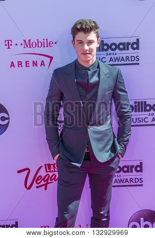 LAS VEGAS - MAY 22 : Singer Shawn Mendes attends the 2016 Billboard Music Awards at T-Mobile Arena on May 22 2016 in Las Vegas Nevada.