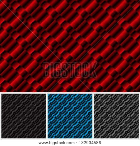 Set of patterns of different colors. Abstract checkered background. Geometric pattern. Vector illustration.