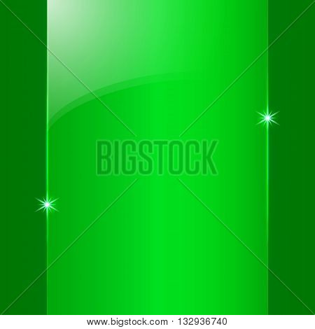 Vector abstract colored shining green metallic background plate