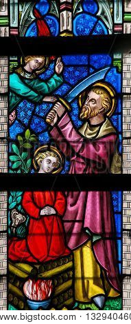 Stained Glass - Abraham And Isaac
