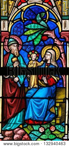 Stained Glass - Holy Family