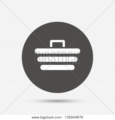 Shopping Cart sign icon. Online buying button. Gray circle button with icon. Vector