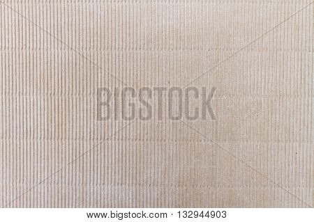 Close up of corrugated cardboard with marks