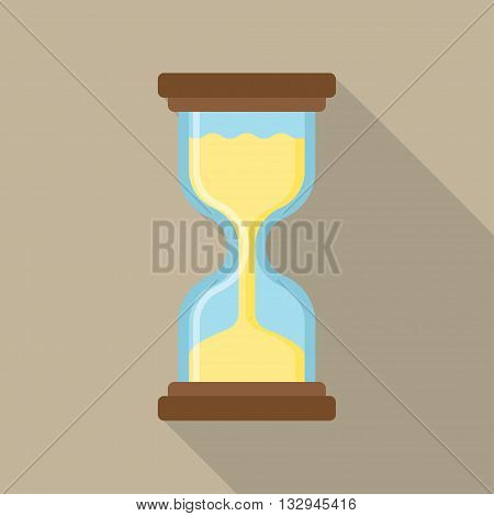 hourglass icon flat Simple and elegant hourglass vector,