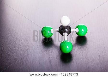 Chloroform Moleculear Structure Model