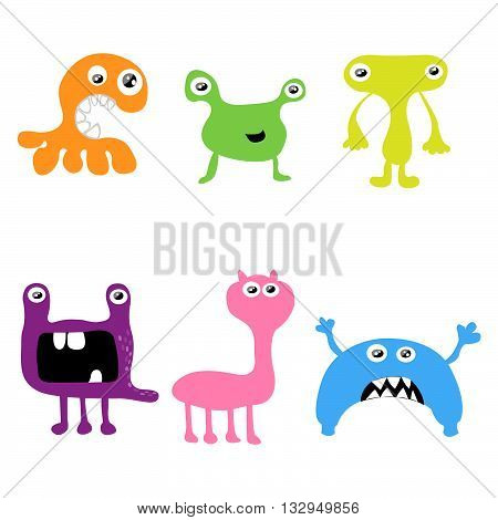 Cute monsters created by imagination, vector illustration