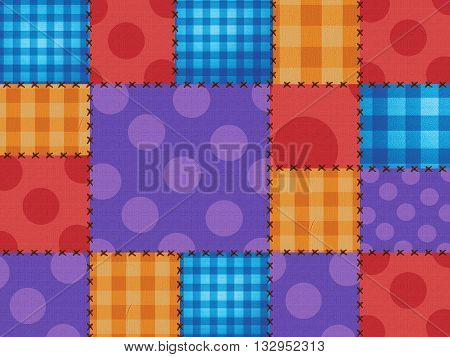 Colorful background of junina party with textile texture. brazil June Festival
