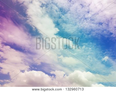 Colorful cloud sky abstract background Beautiful color cloud sky background Abstract colorful cloud sky background.Beautiful blue sky and white cloud represent the sky and cloud concept related idea