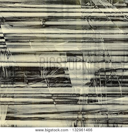 Scratched vintage texture, grunge style frame or background. With different color patterns: brown; gray; black; white