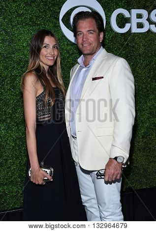 LOS ANGELES - JUN 02:  Michael Weatherly & Bojana Jankovic arrives to the 2016 CBS Summer Soiree  on June 02, 2016 in Hollywood, CA.