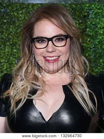 LOS ANGELES - JUN 02:  Kirsten Vangsness arrives to the 2016 CBS Summer Soiree  on June 02, 2016 in Hollywood, CA.