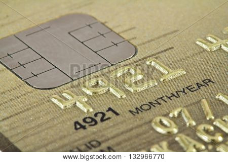 Smart card macro credit card chip, business card