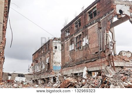 demolition of the remaining old buildings on the territory of the former factory