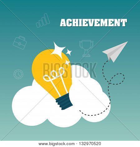 Achievement concept with icon design, vector illustration 10 eps graphic.