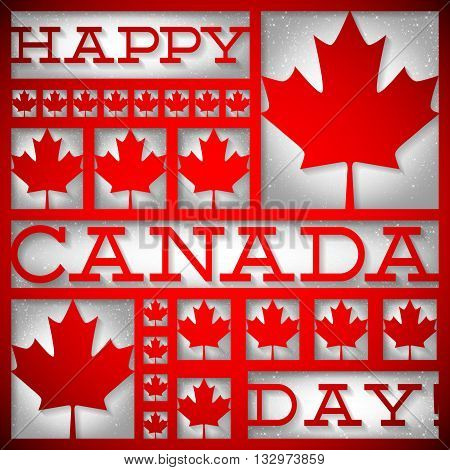 Window Canada Day Card In Vector Format.