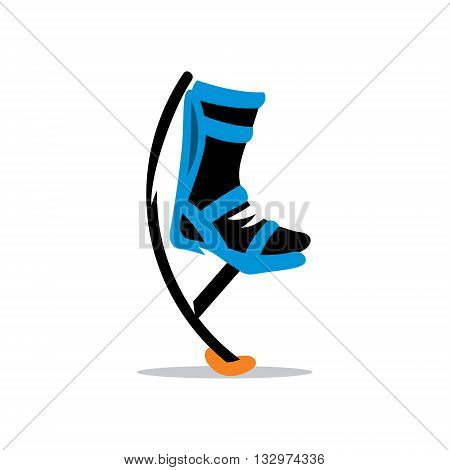 Jumping boots isolated on a white background