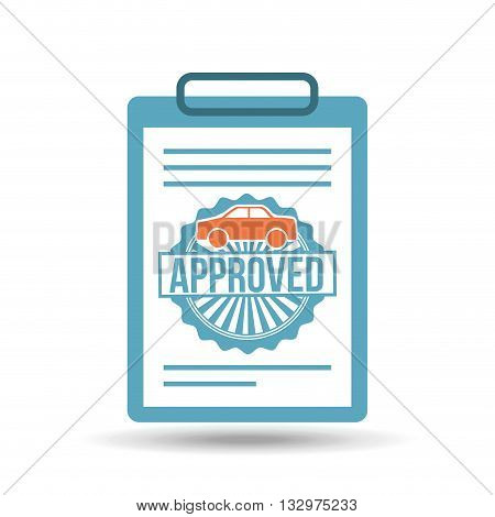 credit approved design, vector illustration eps10 graphic