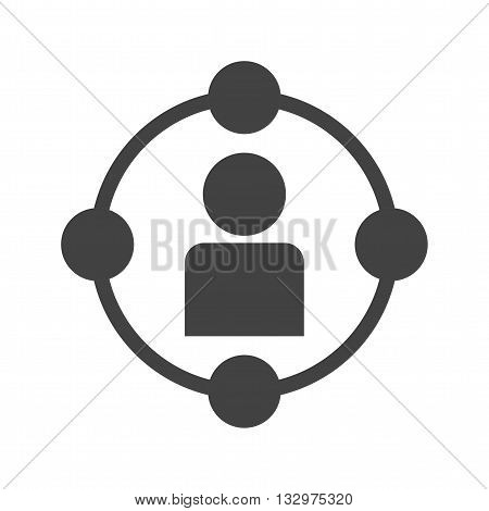 Business, network, social icon vector image. Can also be used for digital web. Suitable for use on web apps, mobile apps and print media.