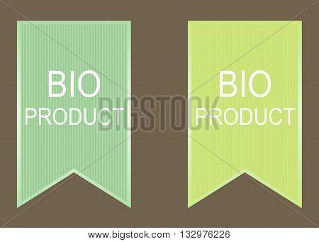 Bio product elements set. Bio green vector