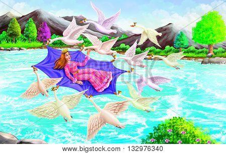 Fairy Tales (Wild Swan)  story of Fairy & wild swan