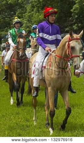 Before horse race in Pyatigorsk,Northern Caucasus, Russia.