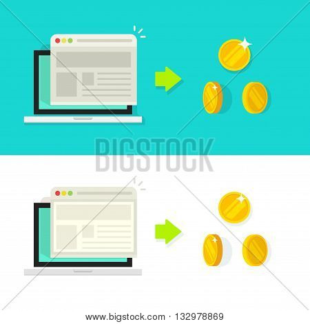 Website conversion vector illustration, conversion rate income concept, optimization, advertising