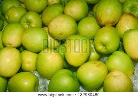 Jujube Indian jujube Chinese date monkey apple green balls pile was similar to green apple