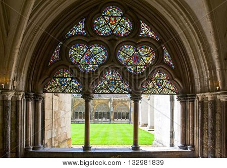London, England - June 28, 2008: the Westminster abbey cloister