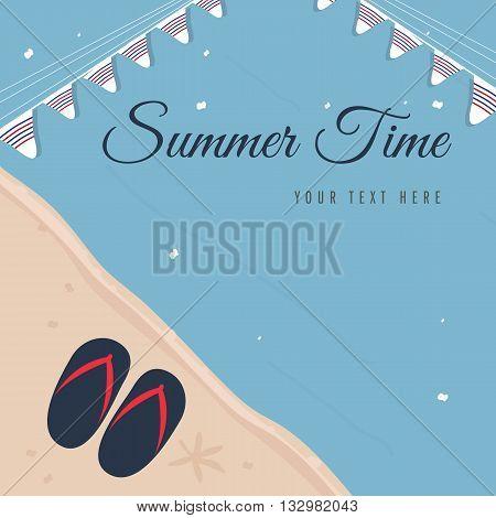 Summer Time, Summer sale inner tube background.