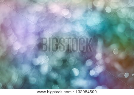 Twinkling Lights Blurred Bokeh. Abstract And Vivid Color Style.