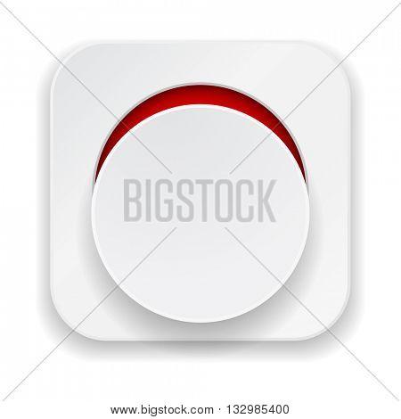 paper banner web icon button