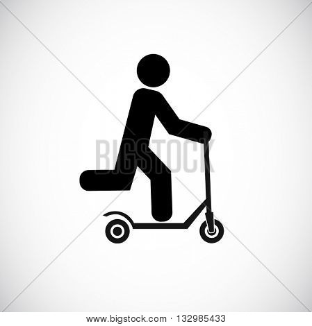 push scooter with man icon