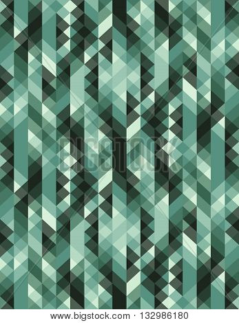 vector seamless geometric pattern green triangle pattern for textile industry