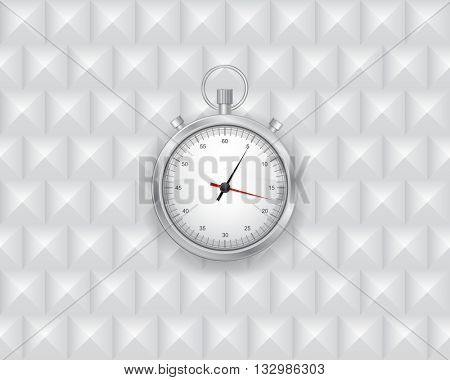 timer watch icon on gray geometric 3d background