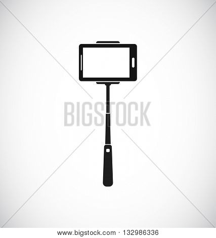 selfie stick monopod icon for mobile phone