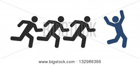 running people and winner icon