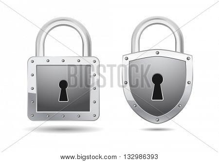 relistic padlock icon