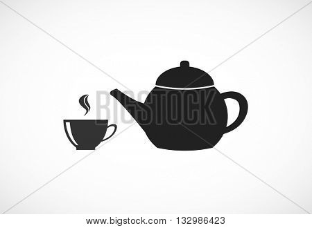 teapot and cup icon design