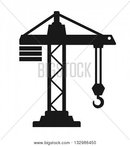 crane building black industrial con