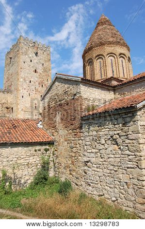 Church and tower in medieval fortress