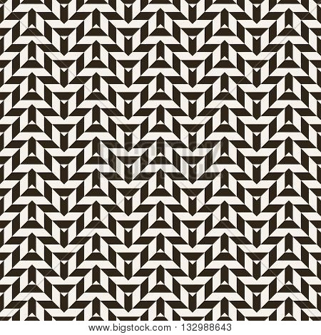 Geometrical seamless pattern. Modern stylish texture. Regularly repeating geometric zigzag shapes. Vector abstract background