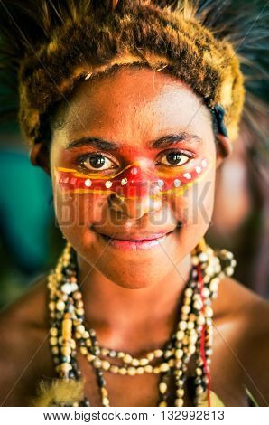 Look Of Happy Eyes In Papua New Guinea