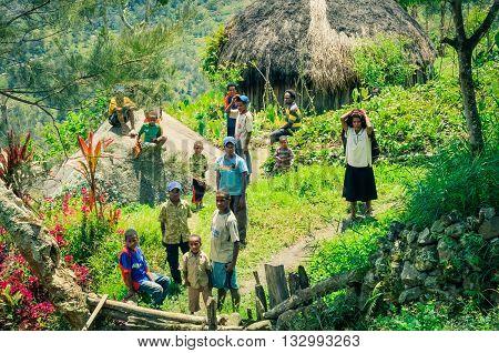 Children In Greenery In Indonesia