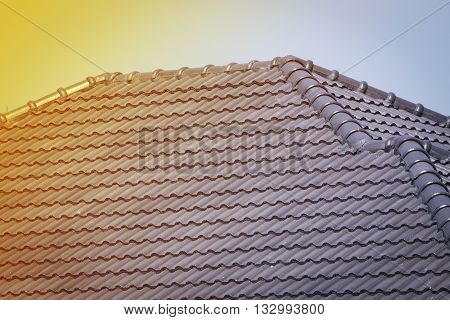 Roof Tile On Residential Building