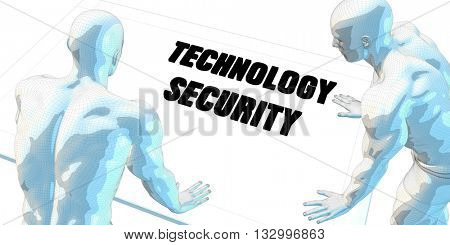 Technology Security Discussion and Business Meeting Concept Art 3d Illustration Render